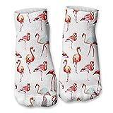 Ferocity Lustige Socken Sneaker Halbsocken Strümpfe Sportsocken Füßlinge mit Motiv 3D, Flamingos, 36 - 40