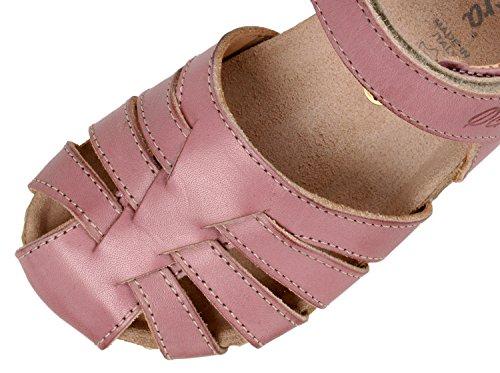 OCRA 609V geschlossene Kinder Sandalen mit Korkfußbett Rosa (81584 bolivia rosa)