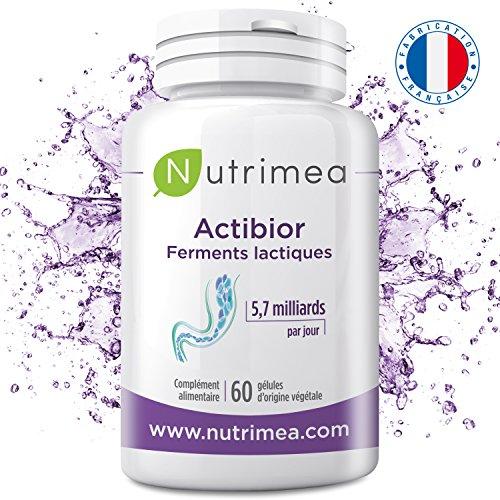 Probiotiques ACTIBIOR  Fortement Dosés 80 Milliards de Bactéries Multisouches soit 5,7 Milliards UFC (les Vraies Bactéries...