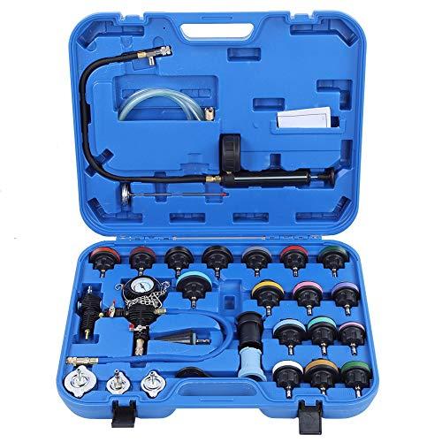 Preisvergleich Produktbild Qii lu 28 stücke druck kühlsystem auto leck tester kit detektor werkzeug auto kühlmittel vakuum spülen kopfdichtung wasser tank adapter