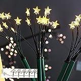 Sternenstäbe Set mit 5 LED-Leuchtstäbe für Außen Garten Weihnachten von Gartenpirat®