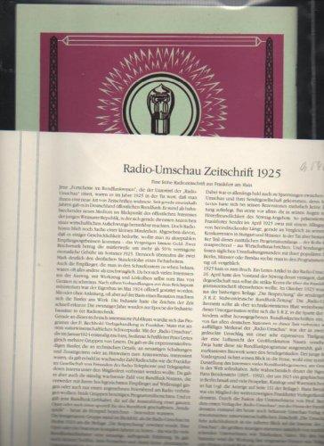 Rundfunk edition Radio-Umschau Zeitschrift 1925 , archiv, verlag, Beschreibungsblatt mit entsprechendem Nachdruck in Hülle -