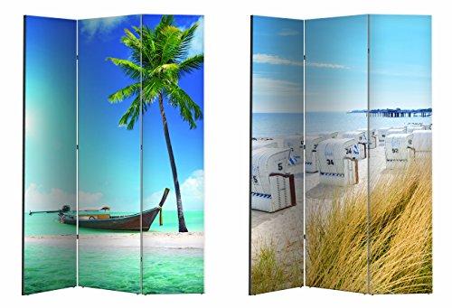 Paravent / Raumteiler / Spanische Wand / Trennwand versch. Motive (Boot / Strandkorb)