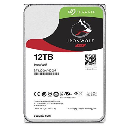 Seagate 12 TB IronWolf SATA 3.5 Internal Hard Drive - Silver
