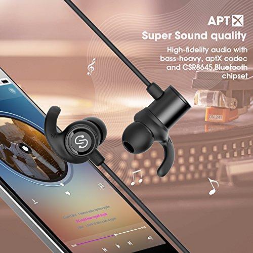 SoundPEATS Auriculares Inalámbricos Deportivos Bluetooth 4.1 Magnéticos con Micrófono Earbuds Headphones Para Smartphones