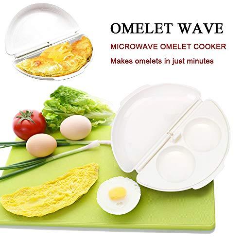 51quqVptG2L. SS500  - Microwave Egg Cooker/Poacher Omelet Maker/Steamer Pan Home Kitchen Mold Tool (White)