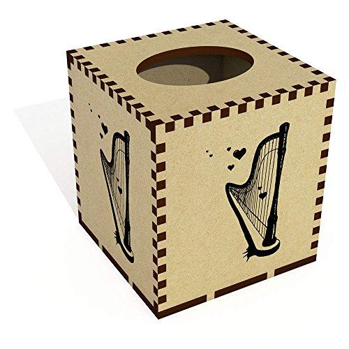 square-romantic-harp-wooden-tissue-box-cover-tb00022855