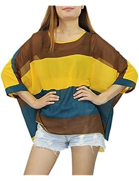 Landove - Camiseta - Túnica - manga 3/4 - para mujer