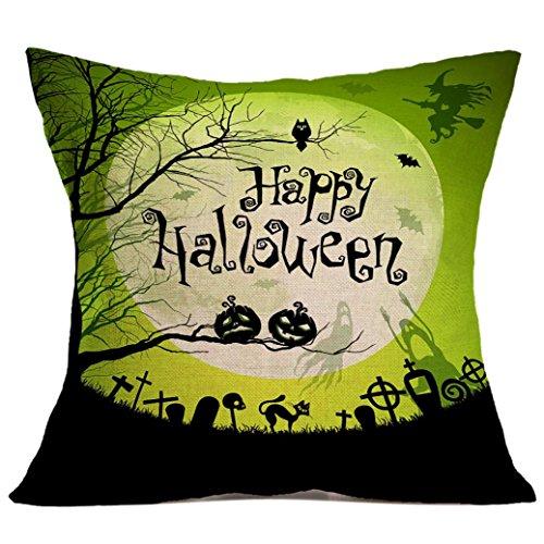 Único de Halloween !!! Funda de almohada, Longra cómodo y creativo de la decoración del hogar (L)