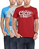 Classic Polo Men's Cotton T-Shirt - Combo of 3 (Multicoloured, Medium)