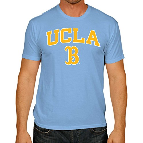 UCLA College Campus Farben Traditioneller Maler Bruins Arch & Logo Gameday Softstyle T-Shirt - Licht blau, Herren, hellblau, Medium -
