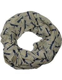 Ditsy Dragonfly Print Animal Fashion Scarf -- SWANKYSWANS