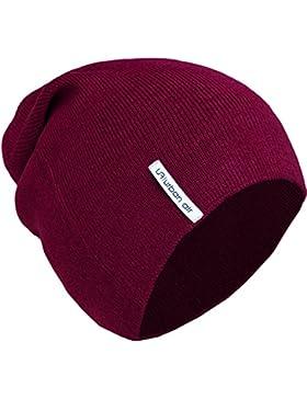 urban air | Slouch Beanie, Mütze | Damen, Herren, Unisex | für das ganze Jahr, weicher Stoff | in schwarz, dunkel...
