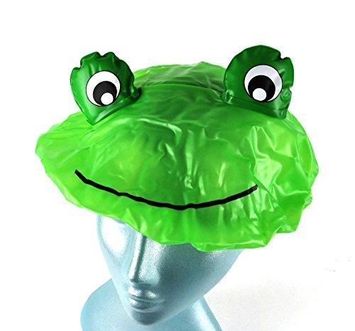 NPW neuartige Duschkappenhaube - Green Crazy Frog Duschhaube, 1 Stück