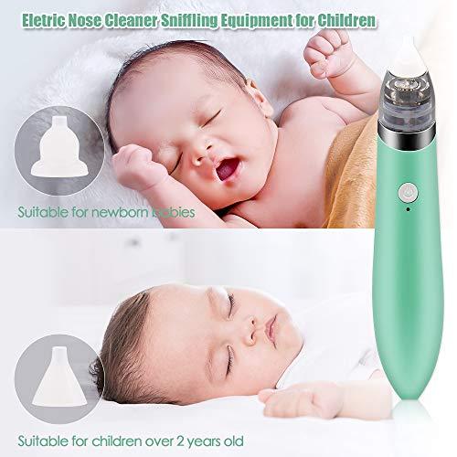 Aspirador Nasal para bebés,  Aspiradores Nasales,  Aspirador de Nasal Eléctrico,  Pantalla LCD de carga USB con 5 niveles de succión 2 tamaños Puntas de silicona,  Portátil aspirador nasal para recién