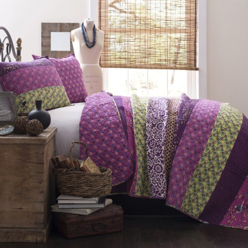 Lush Decor Royal Empire 3-teilig Quilt Set, König, Pflaume