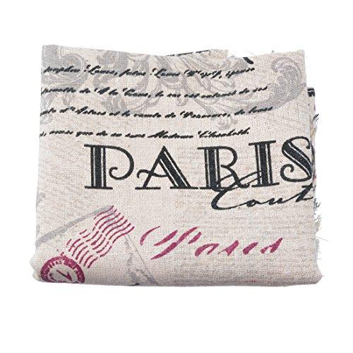 Souarts Textile Tissu Coton Motif Tour Eiffel pour DIY Patchwork Artisanat Couture 100cmx50cm 1PC
