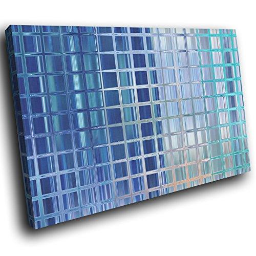 AB1667C gerahmte Leinwanddruck Bunte Wand-Kunst - Blau Grau Teal Cool - modernes abstraktes Wohnzimmer Schlafzimmer Bild Stück Wohnkultur Interior Design Einfach Hang Guide - Teal Grau-wand-kunst