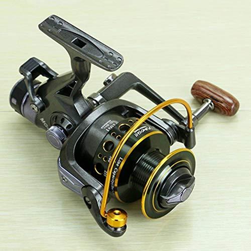 Yaoaomon YUMOSHI Fishing Reel 10+1BB Dual Brake Metal Coil Bait Casting Fishing Reel Black MG60