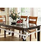 #9: Yellow Weaves™ Dining Table Cover Waterproof Transparent 6 Seater 60X90 Inches
