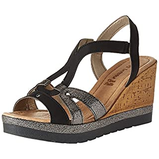 INBLU Women's Evian Sling Back Sandals, Black (Nero 014), 4 UK