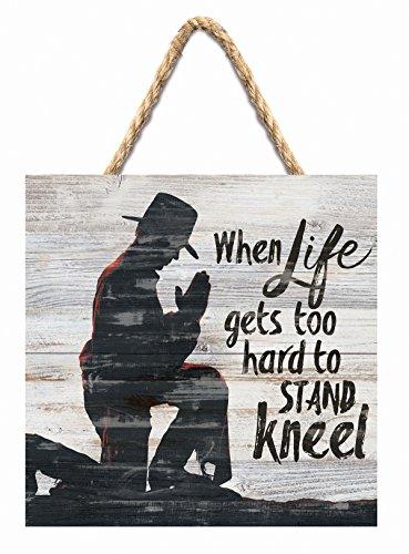 P. Graham Dunn Life Gets Schwierig zu Ständer 'Cowboy 17,8x 17,8cm Schild aus Holz Palette Wand aufhängen