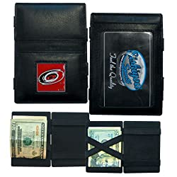 NHL Carolina Hurricanes Leather Jacob's Ladder Wallet