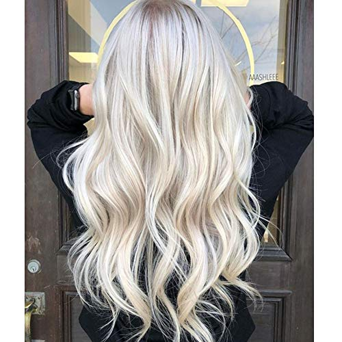 RUNATURE 26 zoll Remy Tape Echthaar Extensions Glatt Platinblond #60 Haarverlängerung Skin Weft Tape in Human Hair 20pcs/50gramm (Hair Zoll Tape In Extensions 26)