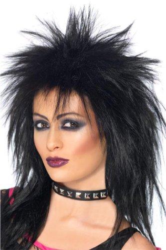 (Schwarze Perücke Tina Turner Rockstar Party schwarz Rocklady)