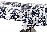 Halben Preis Drapes Donegal Designer Kunstseide Taft Tischdecke, blau, 54x 120