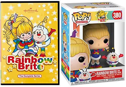 Twink & Rainbow Brite Complete Series DVD Retro Cartoon Episodes & Funko Pop Animation Vinyl Collectible Figure Set
