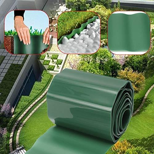 Opengardenweb Recinto Bordura per Giardino Aiuole in Plastica Verde Srotolabile 5-10 m x 0,2 m Altezza - Bordatura Recinzione per Prato - Decorazione Giardino per Bordi Aiuole (10 Metri)