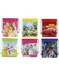 Parteet New Cartoon Printed Haversack Bags - Pack Of 12Pcs For Birthday Party Return Gifts For Kids