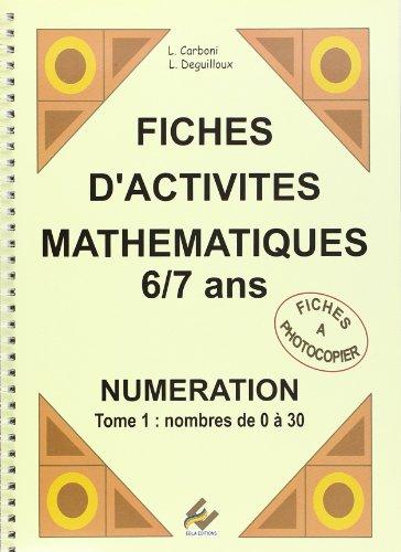 CP - Fiches d'activité mathématiques TOME 1