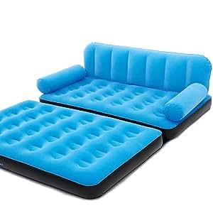 Bestway 3in1 Multifunktionscouch Luftbett Luftmatratze inkl. elektrischer Pumpe - Bett Couch Sessel Blau