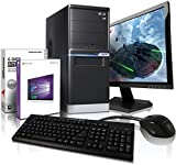 Komplett PC-Paket  Allround / Multimedia COMPUTER mit 3 Jahren Garantie! | Quad-Core! AMD FX 4100 4x 3800 MHz | 4096 MB DDR3 | 500GB S-ATA II HDD | AMD Radeon HD 3000 2048 MB DVI/VGA mit DirectX11 Technology | 22x DVD±RW | Windows10 Professional 64-Bit | 22