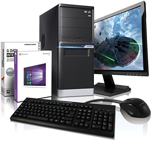 "Komplett PC-Paket  Allround / Multimedia COMPUTER mit 3 Jahren Garantie! | Quad-Core! AMD FX 4100 4x 3800 MHz | 4096 MB DDR3 | 500GB S-ATA II HDD | AMD Radeon HD 3000 2048 MB DVI/VGA mit DirectX11 Technology | 22x DVD±RW | Windows10 Professional 64-Bit | 22"" LED TFT Monitor 