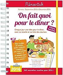 ON FAIT QUOI POUR LE DINER ? MEMONIAK 2015-20