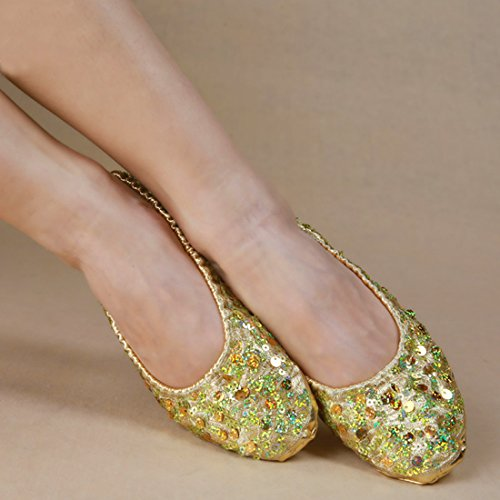 Calcifer® Marke neue Ägyptische Ägypten Belly Dance Schuhe Kostüm Geschenk für Big Party Weihnachten, gold, (Kostüme Ägyptische Mädchen)