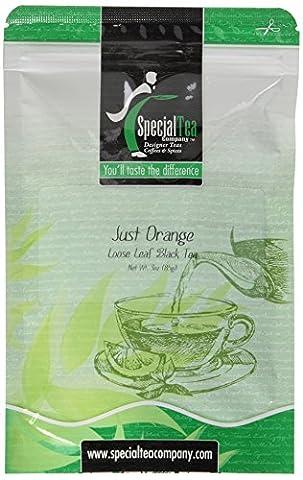 Just Orange Loose Leaf Black Tea 3 oz. with Free Tea Infuser