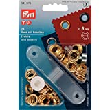 Prym ojales de Metal y arandelas de 8 mm latón dorado - 24 piezas