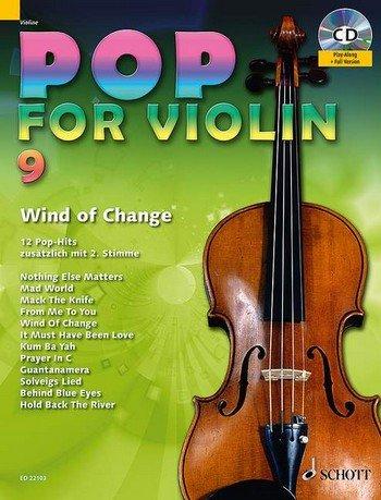 Pop for Violin Band 9 inkl. CD - 12 tolle Songs von Metallica, The Scorpions u.a. für 1-2 Geigen arrangiert (Noten)