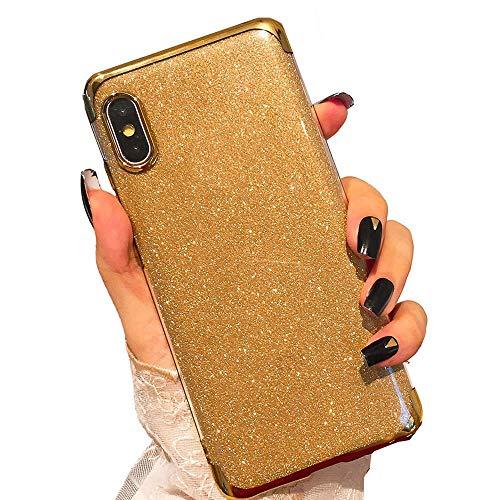 Miagon 2-1 Glitzer Hülle für {Huawei P20},Luxus Glitzer Bling Überzug Hülle Handyhülle Slim Case Schale Leicht Dünn Schutzhülle Glänzendes
