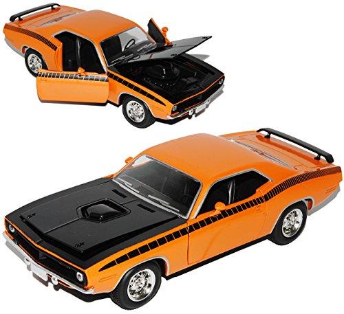 Barracuda-auto-modell (Plymouth Cuda Coupe Orange 1970 1/24 New Ray Modell Auto)