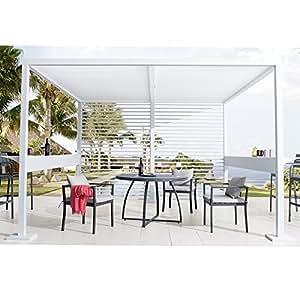 Gazebo pergola 3 5x3 5mt alluminio bianco design arredo for Amazon arredo giardino