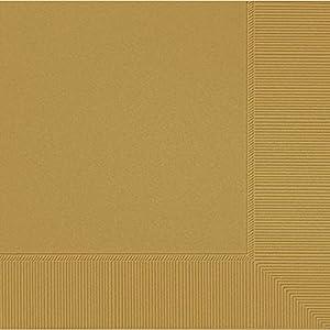 amscan Paquete de 20 servilletas Grandes, Papel, Oro