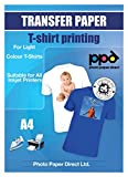 Photo Paper Direct PPD A4 Carta di Trasferimento a getto d'inchiostro Per Magliette Di Colore Chiaro x 20 Fogli