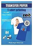 PPD Inkjet Transferpapier zum aufbügeln auf helle T-Shirts, DIN A4, 20 Blatt