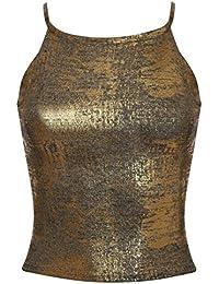 PILOT® Libby effet de feuille métallique maille fine brassière lanières