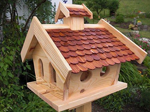 Vogelhaus Vogelhäuser-(V09)-Vogelfutterhaus Vogelhäuschen-aus Holz-DHL Schreinerarbeit-XXL Braun
